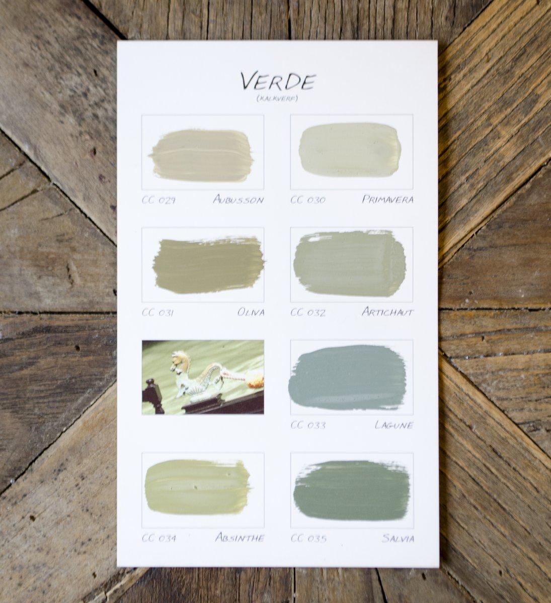 espterhoeve carte colori kleurenkaart verde
